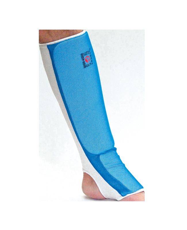 BN Schienbein Ristschutz Cotton Mesh blau M, CE M