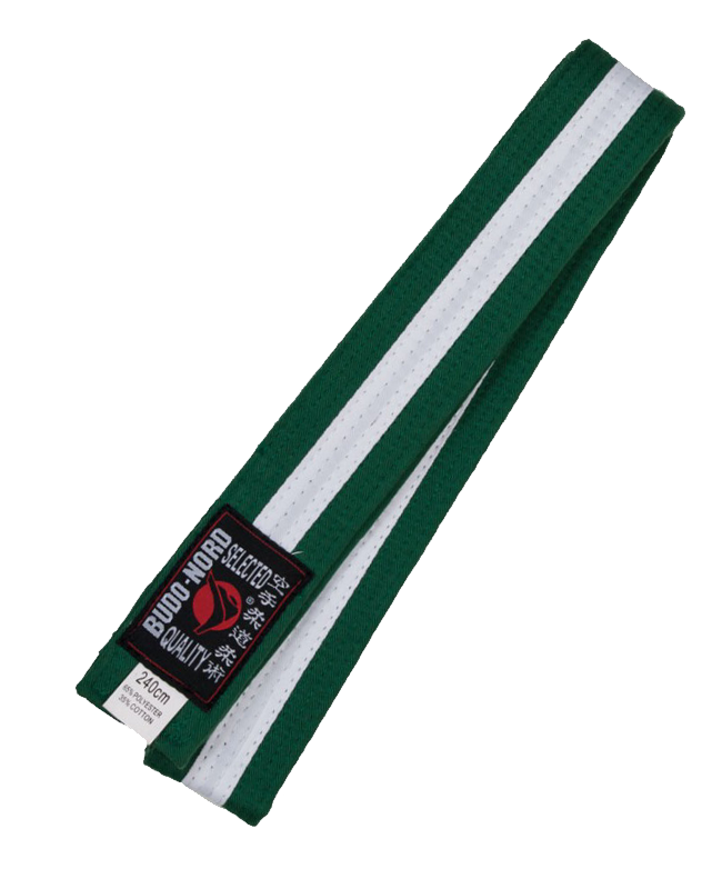 Farbgurt grün/weiß/grün 240 cm