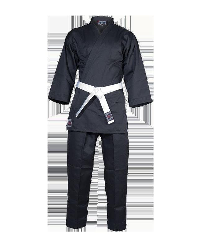 Budo Nord Empi Karate Anzug 150 cm schwarz 150cm