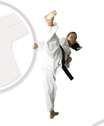 TAEKWONDO Anzug BN Standard Deluxe 200 cm weißer Kragen 200cm