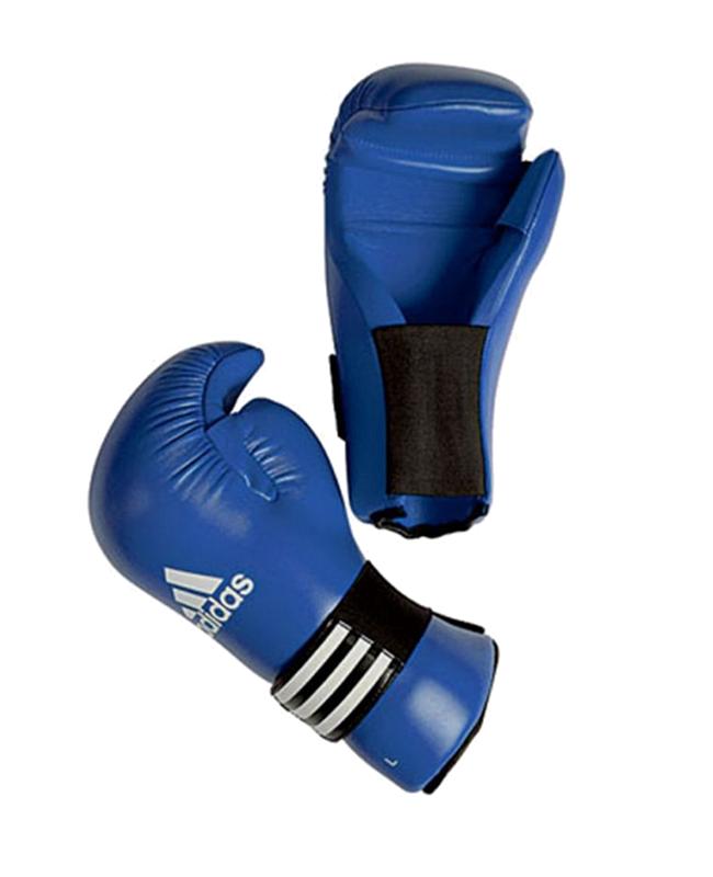 adidas ADIBFC01 - Semi Contact Glove, blau