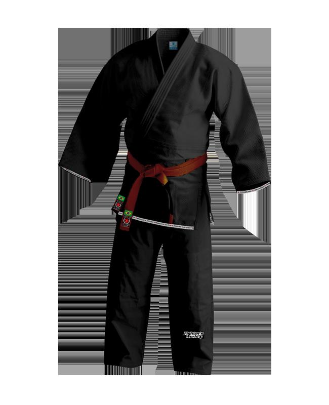 FW RIO Brazilian Jiu Jitsu Kimono schwarz