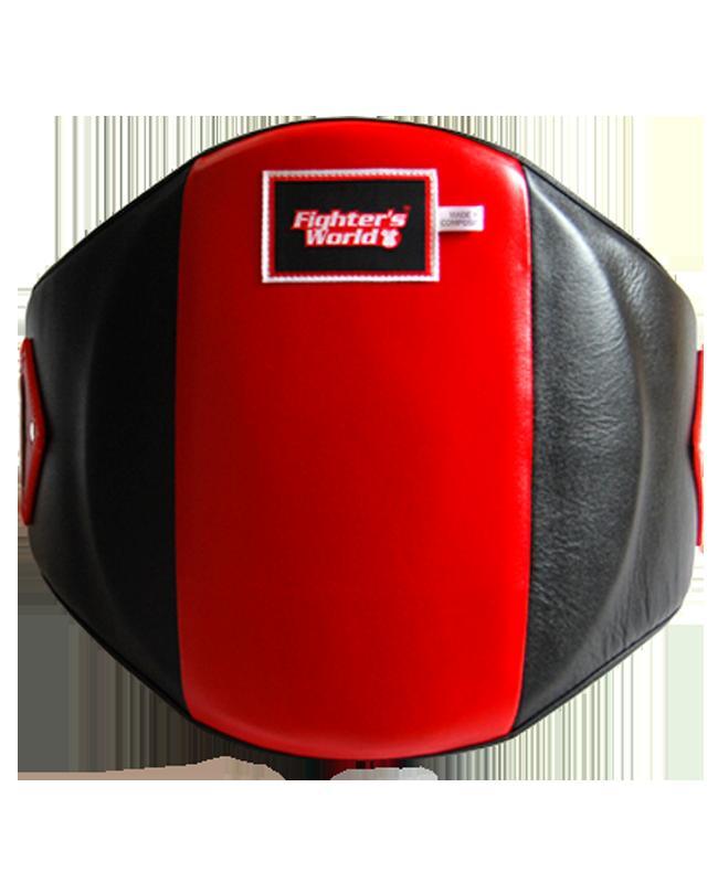FW Boxer Bauchschutz MuayThai Belly Protector schwarz rot