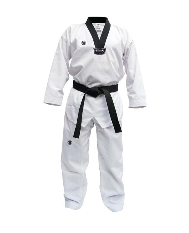 FW UNDONG TaeKwonDo Uniform schwarzes Rev. 200 cm Anzug 200cm
