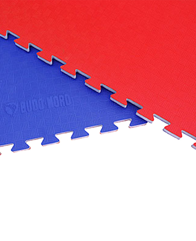 BN Kampfsportmatte Competition WTF approved rot-blau ca.1x1m x 23mm rot-blau