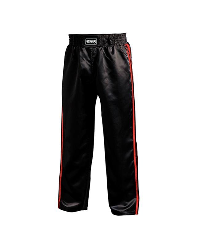 FW Kickboxhose Warrior schwarz/rot 170 170cm