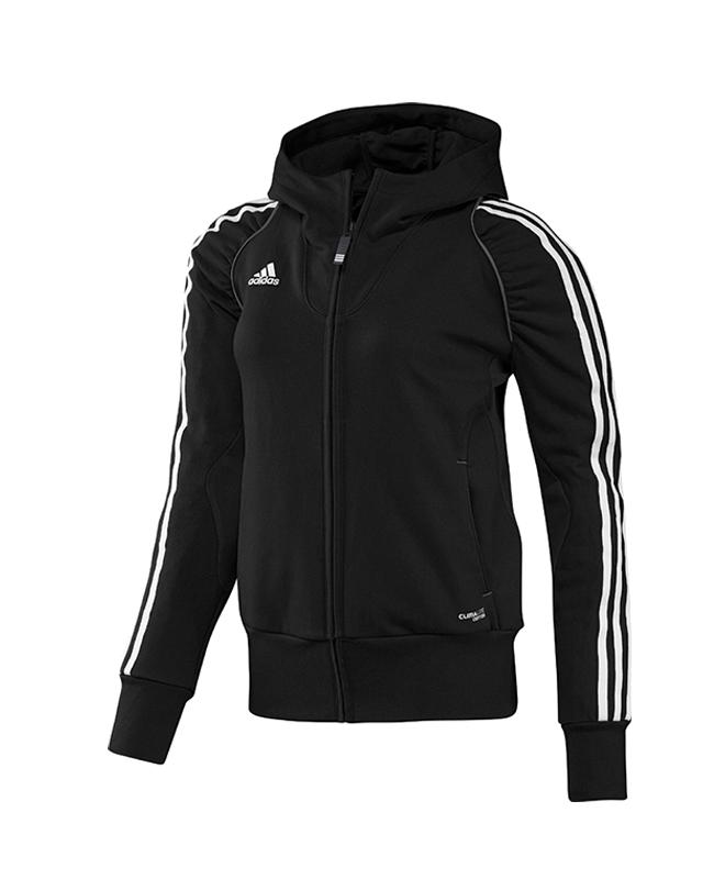 adidas T12 Team Hoodie WOMAN Gr.48 schwarz XL adi X13649 48