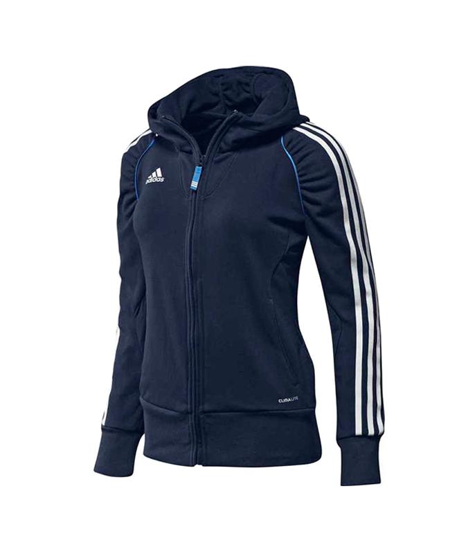 adidas T12 Team Hoodie WOMAN blau adi X13651 42