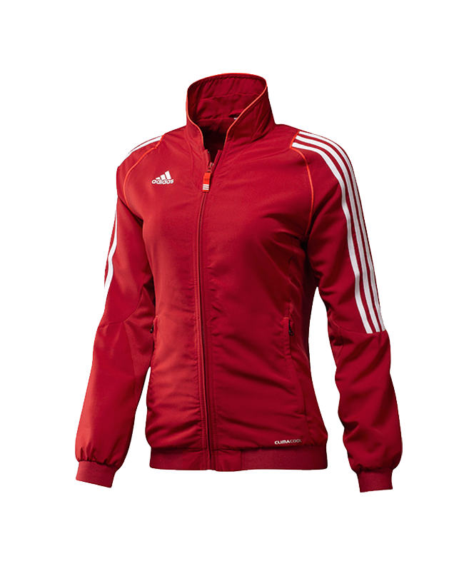 adidas T12 Team Jacket WOMAN Gr.36 rot S adi X13516 36