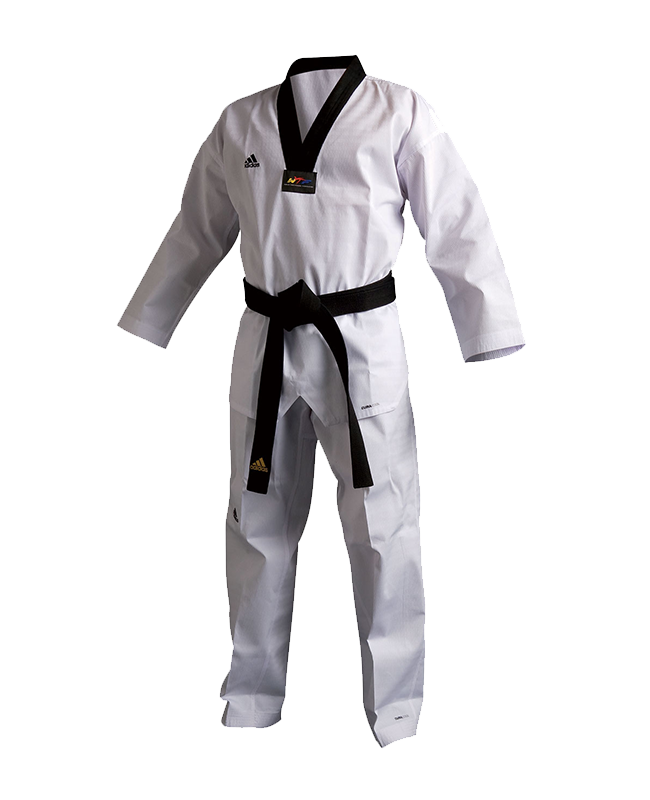 adidas Taekwondo Anzug Champion 3 III Uniform 180 schwarzes Revers WTF adiTCH03 180cm
