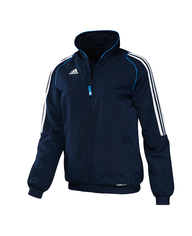 adidas T12 Team Jacket WOMAN Gr.34 blau +XS adi X13517 34