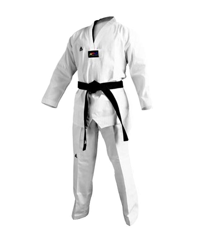 adidas Taekwondo Anzug Champion 3 III  weißes Revers 160 WTF adiTCH03 160cm