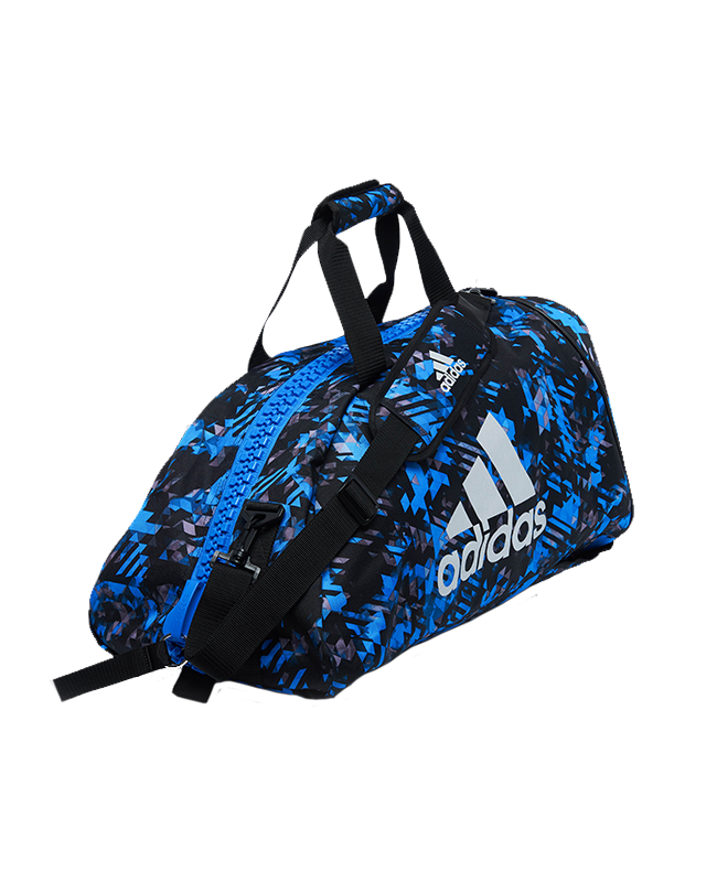 adidas Sporttasche Rucksack 2 in 1Bag size L blau/silber camo ADIACC058MA L