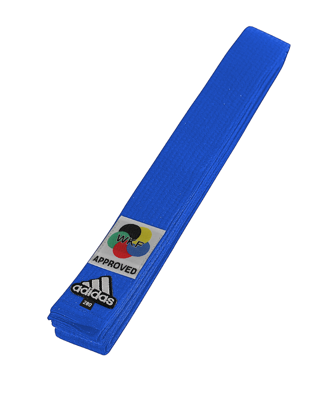 adib240 Farbgurt Elite blau 280 cm WKF Label adidas 280 cm