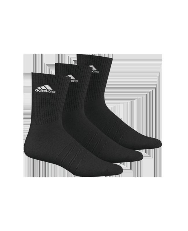 adidas Sportsocken  Gr.43-46 schwarz 3er-Pack lang AA2298 43-46