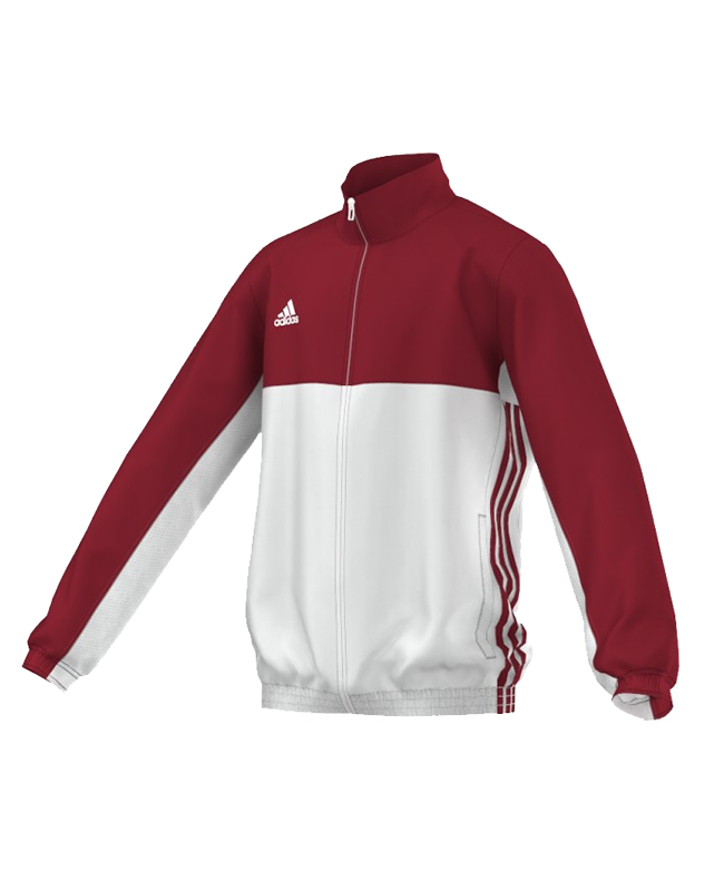adidas T16 Team JKT YOUTH Jacke 128 rot/weiss AJ5324 S