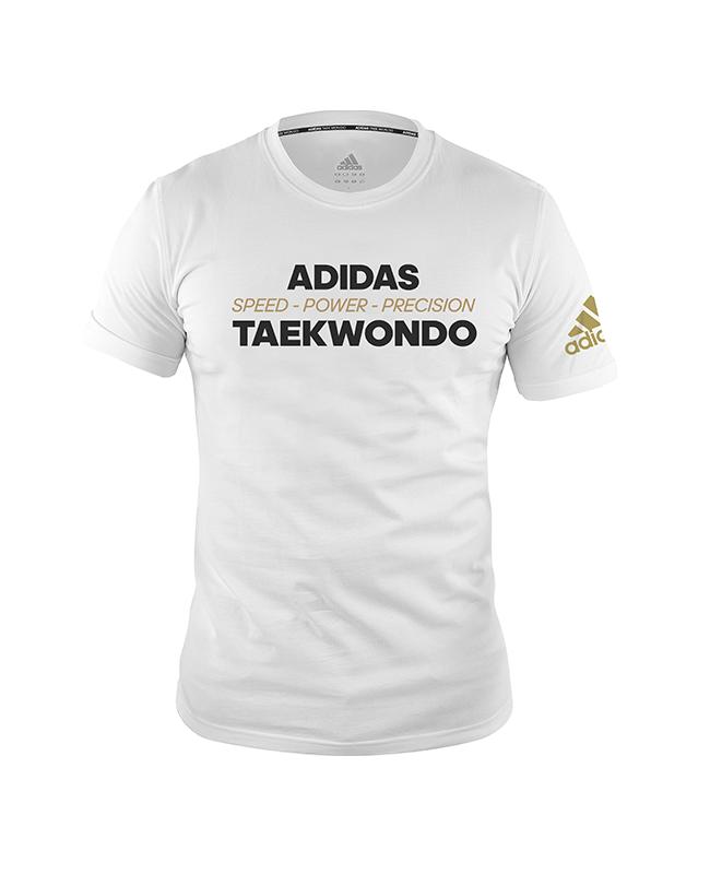 "adidas Community T-Shirt ""Power"" TAEKWONDO weiß adiTCL02"