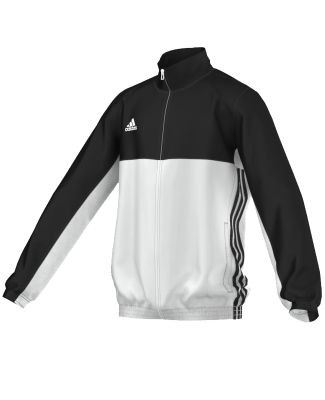 adidas T16 Team JKT YOUTH Jacke 128 schwarz/weiss AJ5322 S