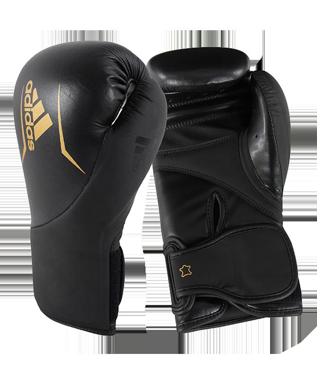 adidas Boxhandschuhe Speed 200 schwarz gold 12oz adiSBG200 12oz