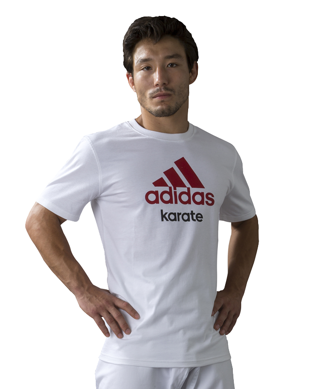 adidas Community T-Shirt Karate weiß/rot  XL XL