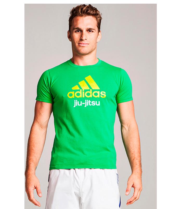 adidas Community T-Shirt JiuJitsu grün Gr.152 XXS