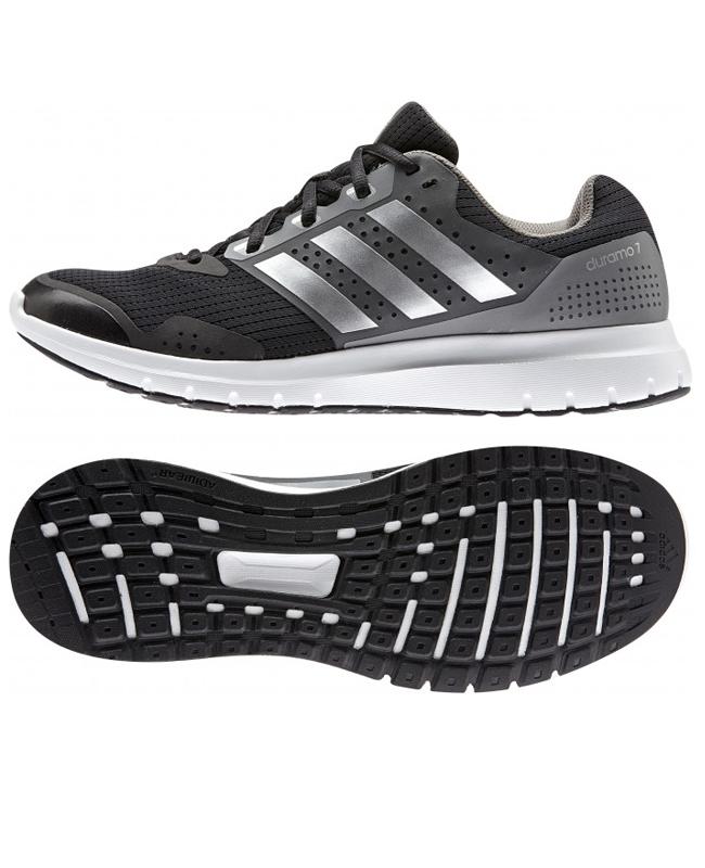adidas T16 Schuhe Core Duramo 7 m UK8,5 EU42 2/3 schwarz/silber/grau B33550 UK8.5
