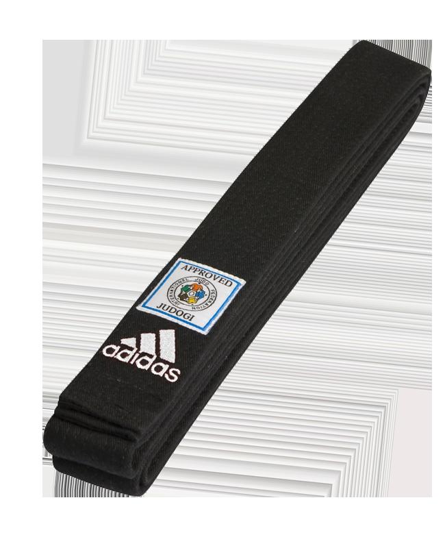 adidas Judo Dan Gurt Elite schwarz mit blauem IJF Label adib240