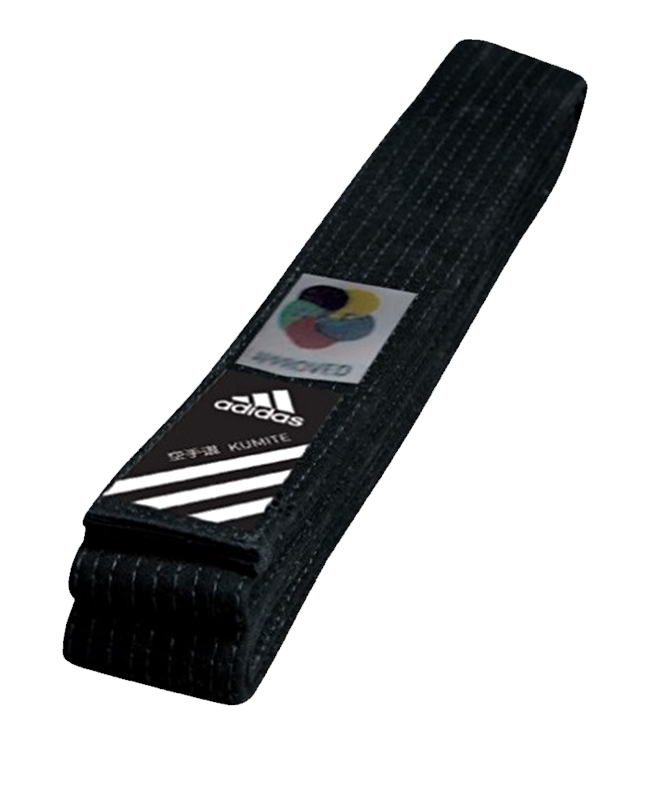adib240 Dan Gurt Elite schwarz 300 cm WKF Label adidas 300 cm