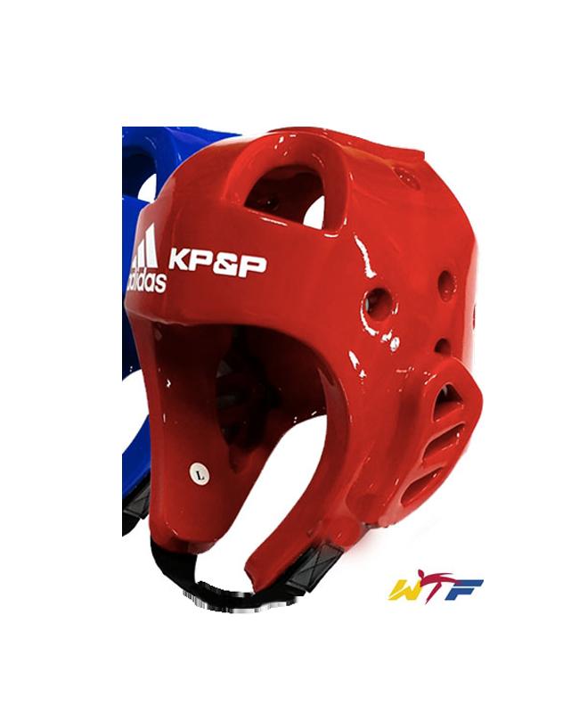 adidas KP&P elektr.Kopfschutz E-Head Gear rot mit Transmitter WTF approved