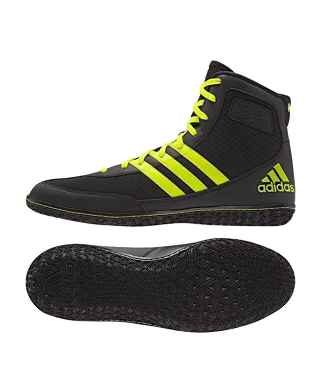 adidas Mat Wizard 3 Ringerschuhe Gr 42 UK8 schwarz/gelb EU42 UK8