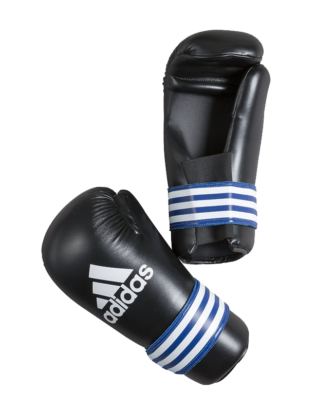 adidas Kickboxhandschuhe Semi Contact Gloves schwarz/blau adiBFC01