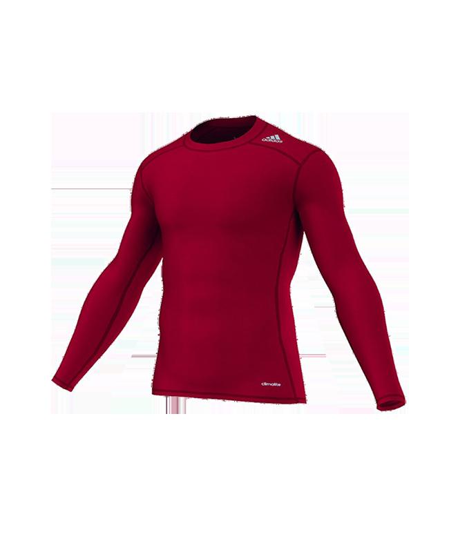 adidas TECHFIT Langarm TF BASE LS rot AJ5015 Compression Shirt