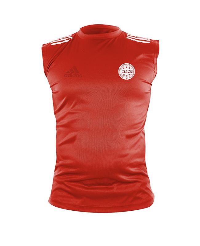 adidas Wako Technical Apparel ärmellos Shirt rot adiWAKOST1