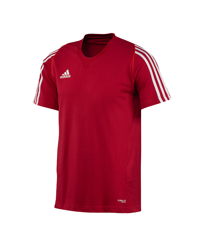 adidas T12 Team Shirt men SS Kurzarm rot adi X12936 06