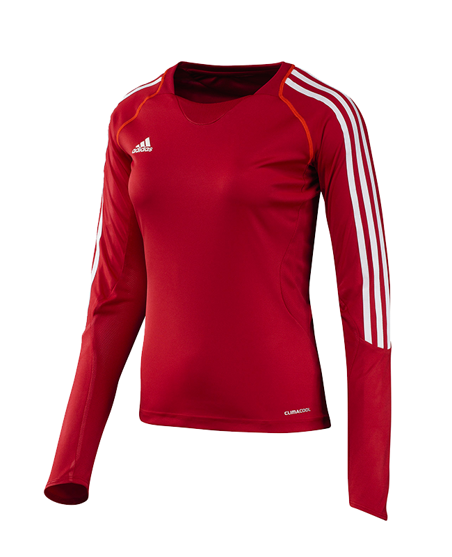 adidas T12 Clima Cool Shirt Langarm WOMAN rot adi X13171 40