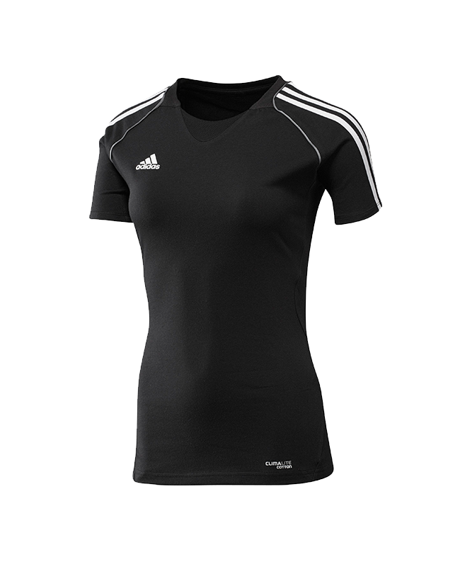 adidas T12 Team Shirt woman SS Kurzarm schwarz adi X13800 40