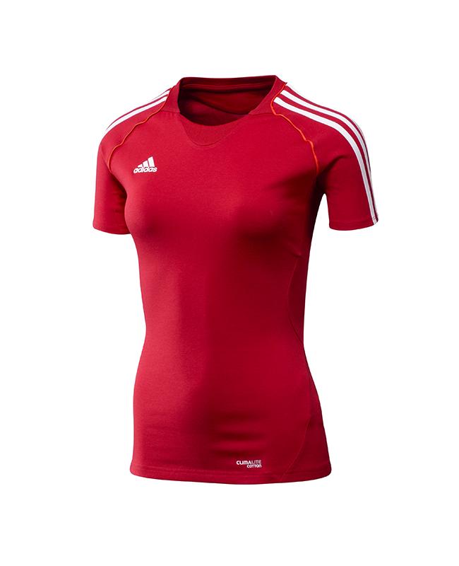 adidas T12 Team Shirt woman SS Gr.48 Kurzarm rot XL adi X13801 48