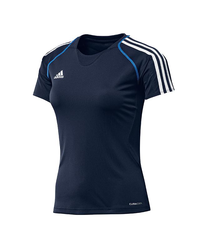 adidas T12 Team Shirt woman SS Gr.46 Kurzarm blau +L adi X13825 46