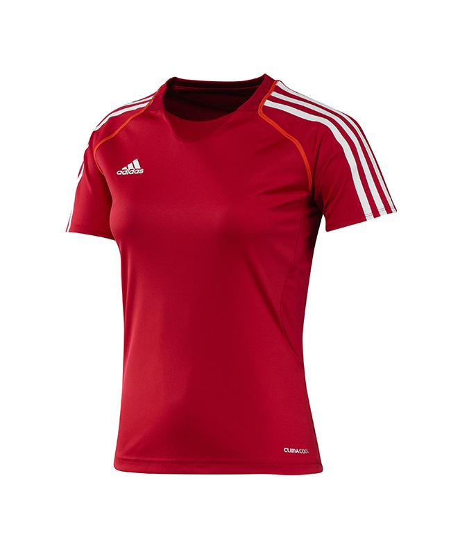 adidas T12 Clima Cool Shirt Kurzarm WOMAN rot adi X13855 36