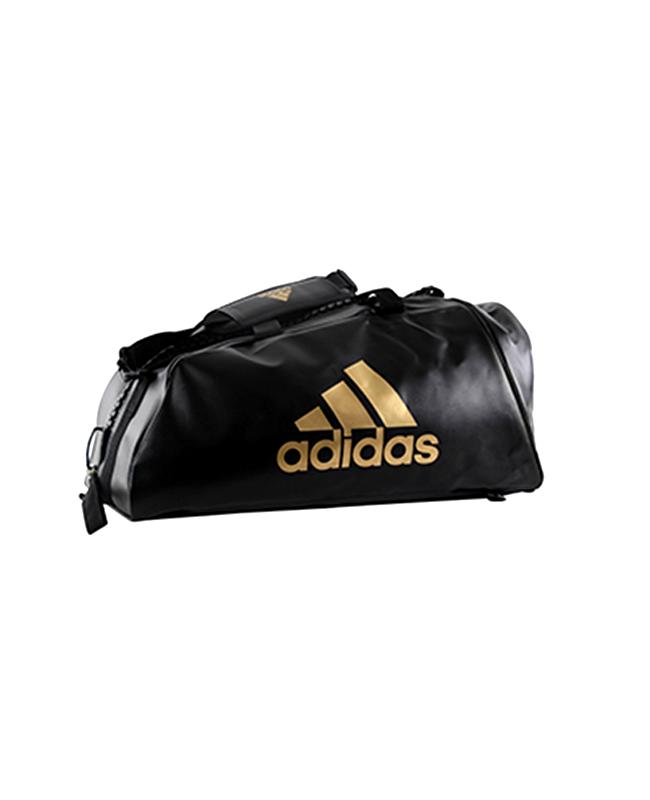 adidas WAKO Sporttasche Zipper Bag 2 in 1 schwarz/gold adiACC051