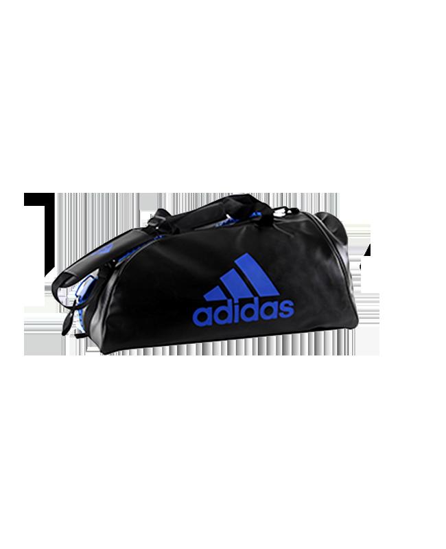 adidas WAKO Sporttasche Zipper Bag 2 in 1 schwarz/blau adiACC051