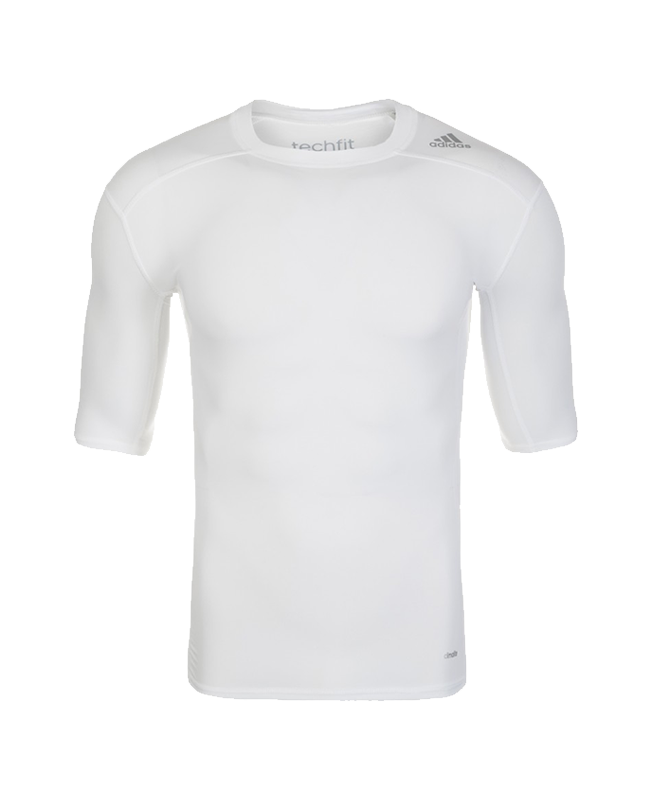 adidas Compression Shirt TECHFIT Base SS Kurzarm weiss XS AJ4967 XS