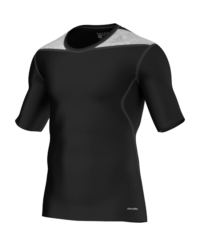 adidas Compression Shirt TECHFIT Base Kurzarm schwarz XS D82011 XS