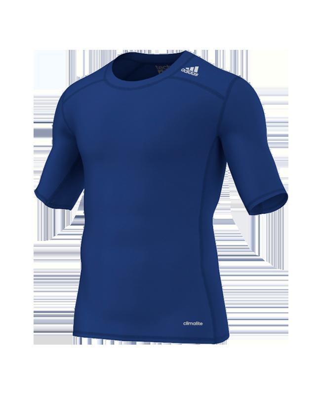 adidas Compression Shirt TECHFIT Base SS Kurzarm blau XS AJ4971 XS