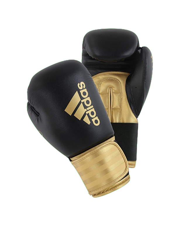 adidas HYBRID 100 Boxhandschuhe schwarz/gold 10oz adiH100 10oz