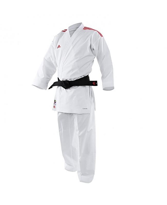 adidas K191SK Kumite Karate Anzug adiLight 155cm mit roten Schulterstreifen 155