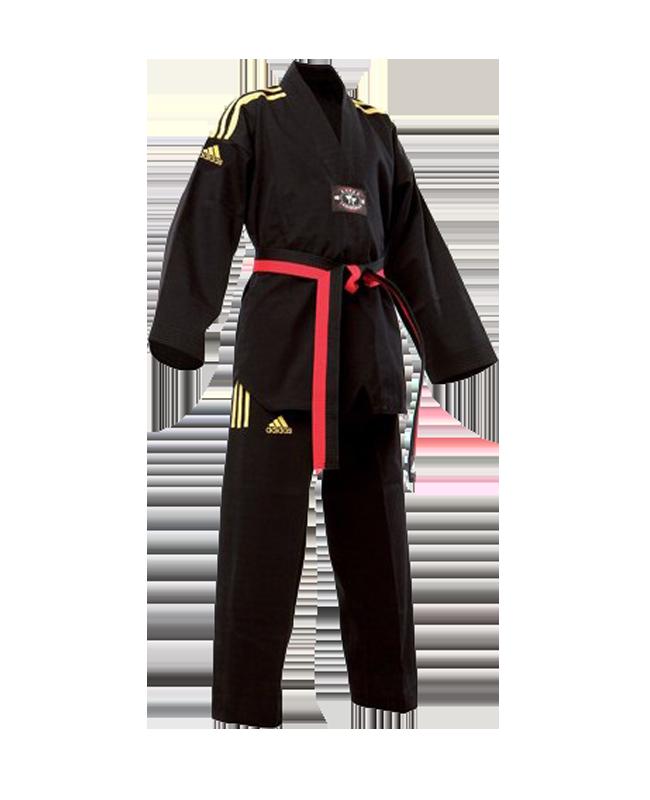 adidas taekwondo champion colour anzug schwarz gold 190 cm. Black Bedroom Furniture Sets. Home Design Ideas