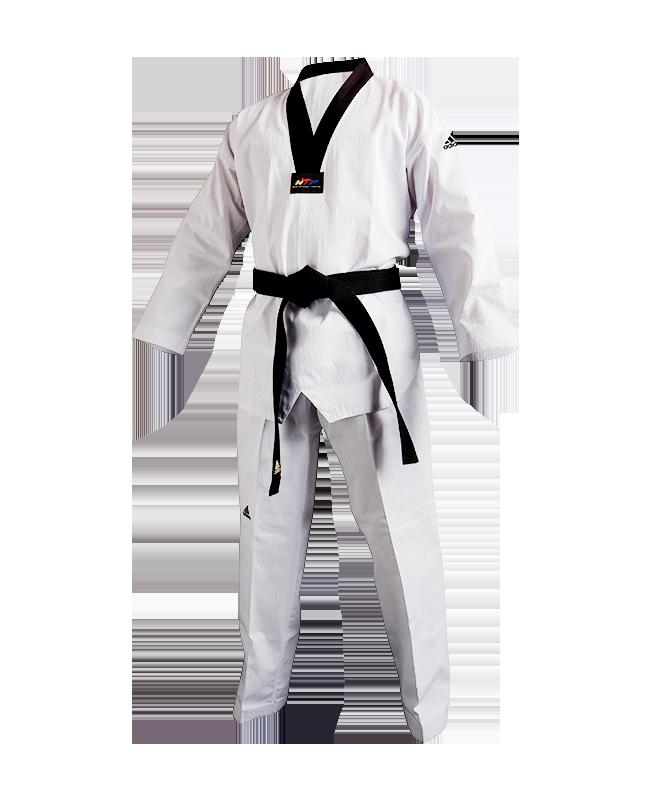 adiTCH02 TKD Champion II Uniform schwarzes Revers