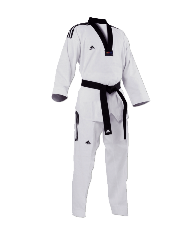 adidas GRAND MASTER Taekwondo Anzug 200cm schwarzes Revers adiTGM01 200cm
