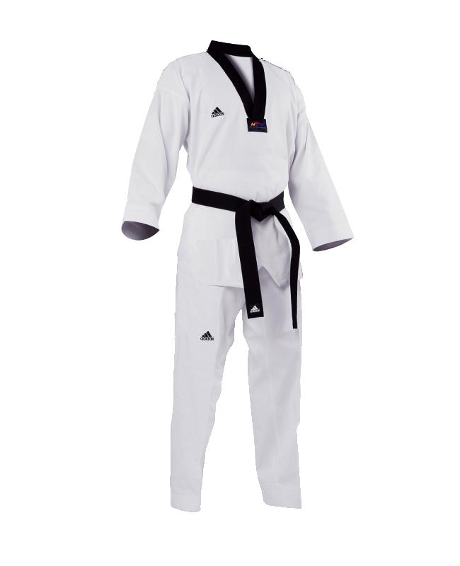 adidas GRAND MASTER Taekwondo Anzug 210cm schwarzes Revers adiTGM01 210cm